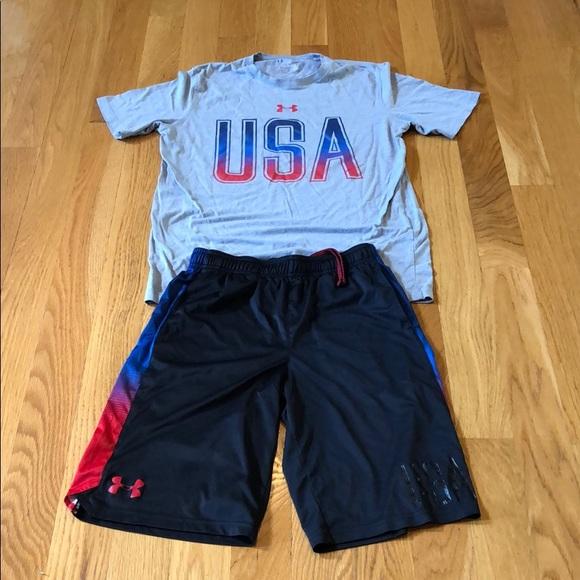 Under Armour Boys Shirt and Short set